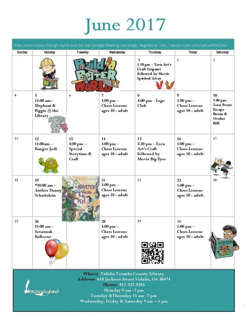 Vidalia Calendar.June