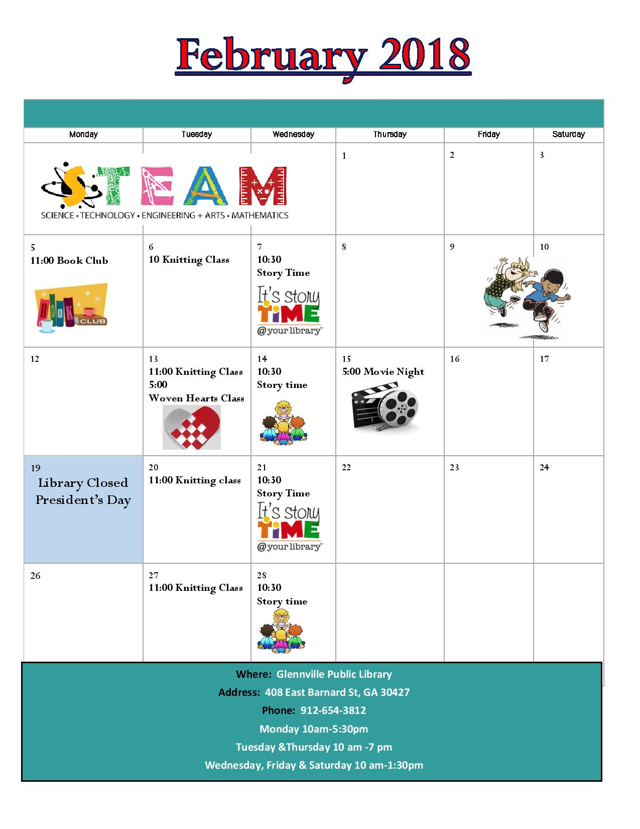 February 2018 Glennville calendar-page-001